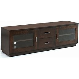 "Milano Amish TV Stand Walnut 77""W - Cabinfield"