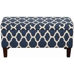 Homepop Large Storage Bench, Multiple Colors Size: 36Inchwx16inchd, Blue,Homepop Large Storage Bench, Multiple Colors Size: 36 Inch W X 16 Inch D X 18 Inch H, Blue