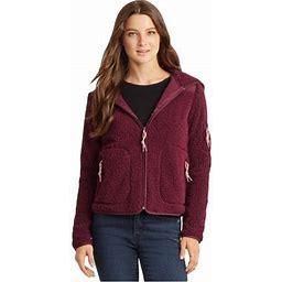 Aeropostale Womens Bear Fleece Jacket, Women's, Size: 2XL, Red