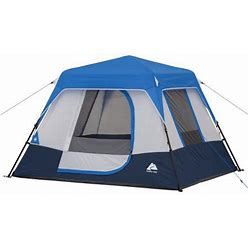 Ozark Trail 4-Person Instant Cabin Tent With LED Lighted Hub Size: 8' X 7' X 54 Inch (H), Blue