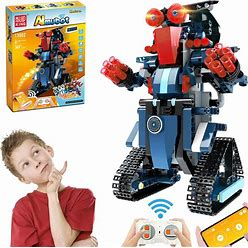 Anysun Building Blocks Rc Robot, Stem Remote And App Controlled Robot Creative Toys Educational Building Kits Intelligent Rechargeable Construction Building Robot Learning Toy Gift For Boys Girls