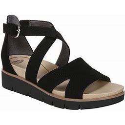 Women's Dr. Scholl's Good Karma Wedge Sandal, Size: 10, Black
