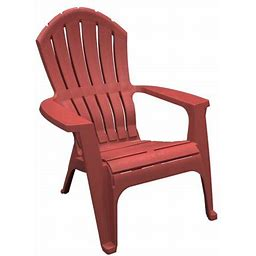 Adams Manufacturing RealComfort Outdoor Resin Stackable Adirondack Chair, Red
