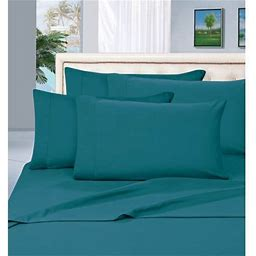 Silky-Soft 1500 Series 3-Piece Bed Sheet Set, Deep Pocket Up To 16 Inch, Twin Turquoise, Blue