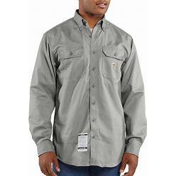 Carhartt Men's Flame-Resistant Classic Twill Shirt   Gray   3XL