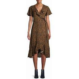 Time And Tru Women's Ruffle Midi Dress