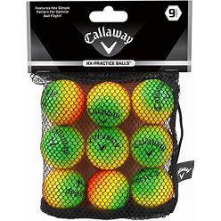 Callaway HX Multi Color Practice Balls - 9 Pack