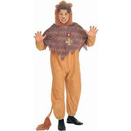 Cowardly Lion Adult Halloween Costume, Size: Men's - One Size, Size: 46