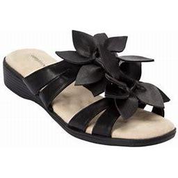 Comfortview Women's Wide Width The Paula Sandal Sandal, Size: 9, Black