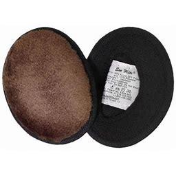Ear Mitts Bandless Ear Muffs, Brown Mink Faux Fur Ear Warmers, Regular, Adult Unisex