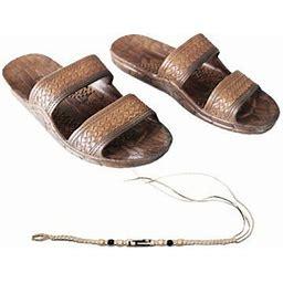 Sandal Hawaii Hawaii Brown Or Black Jesus Sandal Slipper For Men Women And Teen Classic Style With Natural Hemp Bracelet (Women Size 11 /men Size 9,