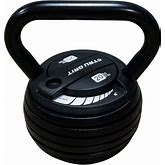 Tru Grit - 20-Lb Adjustable Kettlebell - Black