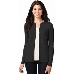 Port Authority Women's Concept Button-Front Cardigan, Adult Unisex, Size: 2XL, Black