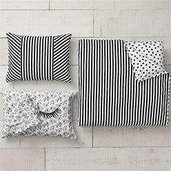 Emily & Meritt Cabana Stripe Duvet Bundle Set, Basic Bundle, Queen, Black/Ivory