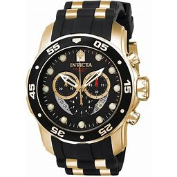 Zales Men's Invicta Pro Diver Two-Tone Chronograph Watch With Black Dial (Model: 6981)