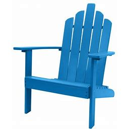 Bellville Outdoor Patio Wood Adirondack Chair, Turquoise