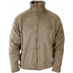 Gen III Lightweight Polartec Thermal Fleece Jacket For Military Parka, Adult Unisex, Size: Small-R, Beige