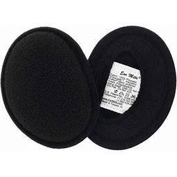 Ear Mitts Bandless Ear Muffs For Men & Women, Red Fleece Ear Warmers, Regular, Adult Unisex