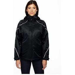 Ash City North End North End Angle Women's 3-In-1 Jacket With Fleece Liner, Style 78196, Size: XL, Black