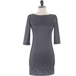 Von Vonni Women's London Dress, Size: Medium, Silver