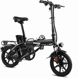 XPRIT Folding Electric Bike, Light Weight, LCD Display, Full Throttle/Pedal Assist