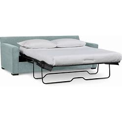 """Radley 86"""" Fabric Queen Sleeper Sofa Bed, Created For Macy's - Heavenly Robinsegg Blue"""
