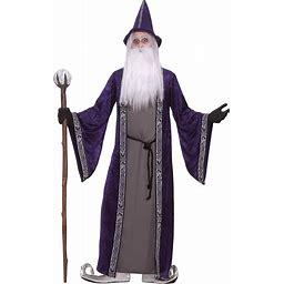Adult Purple Wizard Costume - Wizard Halloween Costumes | Adult | Mens | Purple | One-Size | Forum Novelties, Inc