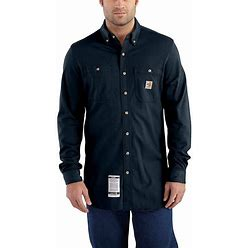 Carhartt Flame-Resistant Force Cotton Hybrid Shirt | Dark Navy