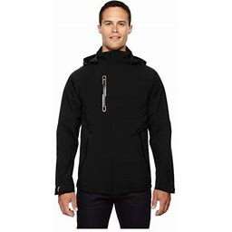 Ash City North End North End Axis Men'sSoft Shell Jacket With Print Graphic Accent, Style 88665, Size: Medium, Black