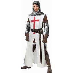 Crusader Costume For Men | Adult | Mens | Brown/Gray/White | S | FUN Costumes