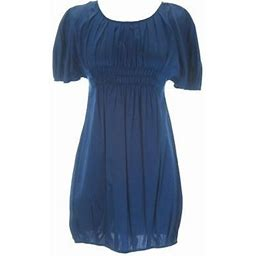 Anne Leman Women's Lily Navy Short Sleeve Bubble Dress Sp91dr9, Size: XS, Blue