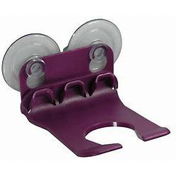 Wave Hooks - Bathtub Wine Glass Holder - Purple