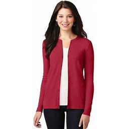 Port Authority Women's Concept Stretch Button-Front Cardigan. Lm1008, Adult Unisex, Size: 2XL, Red