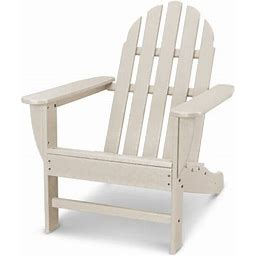 Polywood Classic Adirondack Chair, Size: Twin, Beige