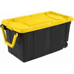 Sterilite 40 Gallon Wheeled Tote Yellow