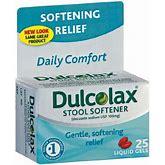 Dulcolax Stool Softener Liquid Gels 25 Liquid Gels Each