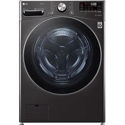 LG Turbowash 360 Smart Wi-Fi Enabled 5-Cu Ft High Efficiency Stackable Steam Cycle Front-Load Washer (Black Steel) ENERGY STAR | WM4200HBA