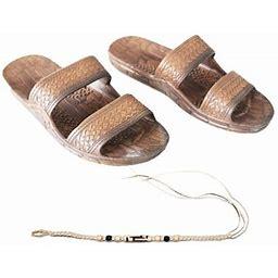 Sandal Hawaii Hawaii Brown Or Black Jesus Sandal Slipper For Men Women And Teen Classic Style With Natural Hemp Bracelet (Women Size 13 /men Size 11,