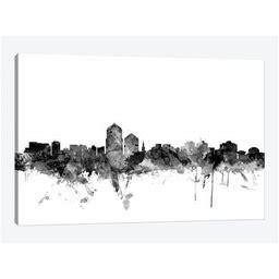 Albuquerque, New Mexico In Black & White Canvas Print Wall Art By Michael Tompsett
