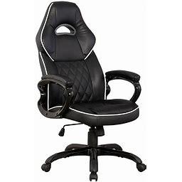 Techni Mobili Sport Race Desk Chair, Black