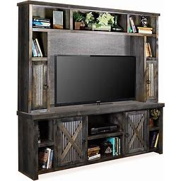 """Jackson Hole Charcoal 85"""" Entertainment Center By Legends Furniture - Gray, From Coleman Furniture"""