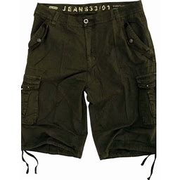 Stone Touch Jeans Mens Military Style Dark Olive Cargo Shorts A8s Size 30, Men's, Green