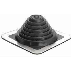 Oatey Roof Vent Flashing, Rubber Collar Type, Number Of Pipes 1, 1/4 To 5-3/4 In Pipe Size (In.) Model: 14052