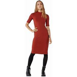 Free Assembly Womens Ribbed Mock Neck Midi Dress