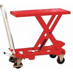 Dayton 33W288 Scissor Lift Cart, 550 Lb., Steel, Fixed