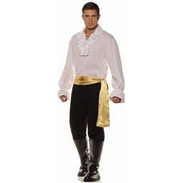 White High Seas Bandit Men's Adult Halloween Costume, Size: 42-46, Black
