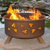 Grapevines Design Outdoor Wood Burning Fire Pit