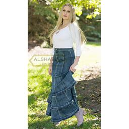 """42"""" EXTRA LONG Denim Belle Skirt - Modest Jeans 