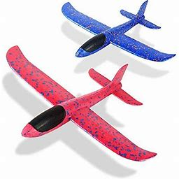 "Foam Glider Airplane Toys Aircraft Hand Throwing Planes 13.5"" Flying Aeroplane Model Outdoor Sports Toys 3 Flight Mode Birthday Party Favor Gift For"