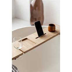 Wooden Bath Caddy, Tray With Wine & Tablet Holder, Bath Tray For Tub, Book, Soap Dish, Nurse, Front Line Worker, Bathtub Tray Bathroom Decor
